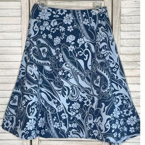 The Limited Skirt Blue Floral Size 4